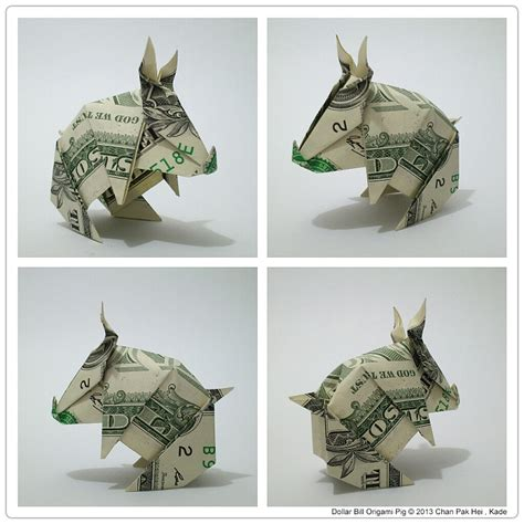 Dollar Origami Pig - origami pig dollar bill 2017 2018 best cars reviews