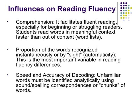 pattern or meaningful unit of information intro to reading fluency