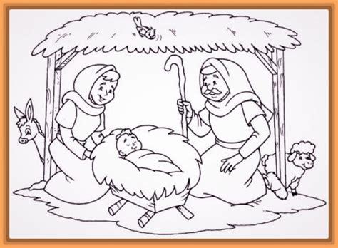 imagenes del nacimiento de jesus para niños dibujo del nacimiento del ni 241 o jesus para colorear