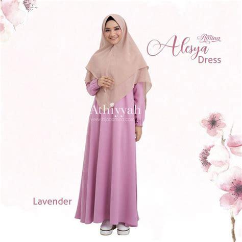 Alesya Dress gamis alesya lavender hijabamina