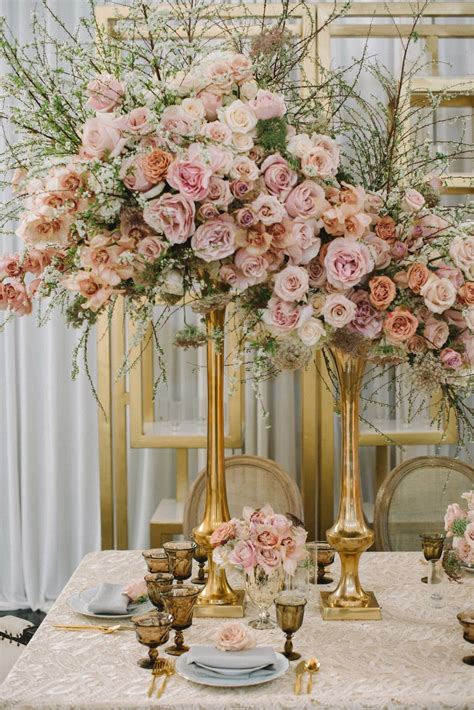 wedding centerpiece vase reception d 233 cor photos blush floral centerpiece