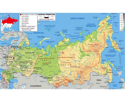 russia political map with cities maps of russia detailed map of russia in and