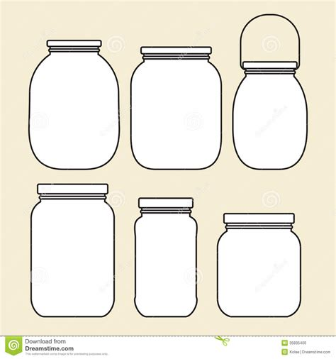 set of jars template stock photo image 35835400