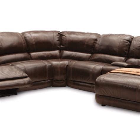 leather reclining sofa with chaise leather sectional w chaise and recliner basement ideas