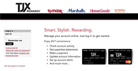 Tjx Rewards Sweepstakes - tj maxx credit card review creditloan com 174