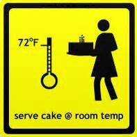 what degree is room temperature cake care