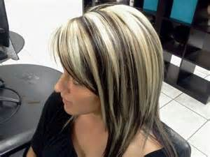 platinum hairstyles with some brown platinum highlights and dark brown lowlites hair