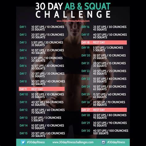 26 day ab challenge 30 day squat ab challenge summer trusper