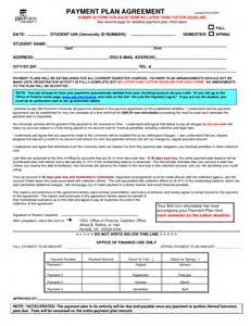 financial agreement template 10 best images of financial agreement form template