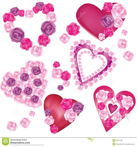 Decorative Hearts by Set Of Decorative Hearts Stock Photography Image 22677762