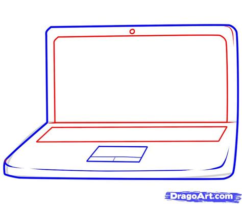 Drawing Computer by How To Draw A Laptop Step By Step Stuff Pop Culture