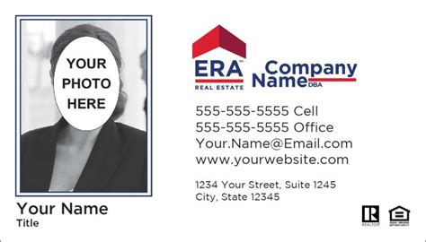 era business card template era real estate era realty era mortgage era global