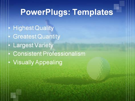 powerpoint templates free golf a golf ball just about to go in the hole from a long putt