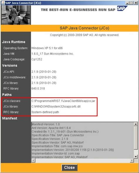 sap jca tutorial synchronisation works but can t open documentation aris