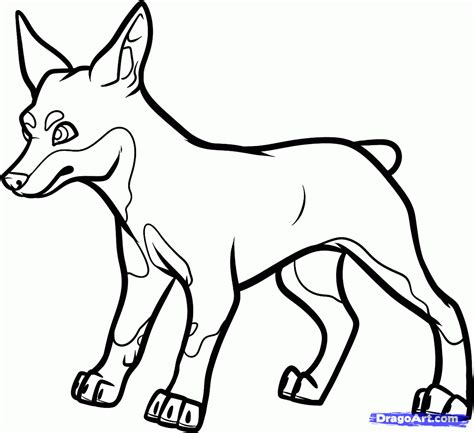 mini pinscher coloring page coloring pages