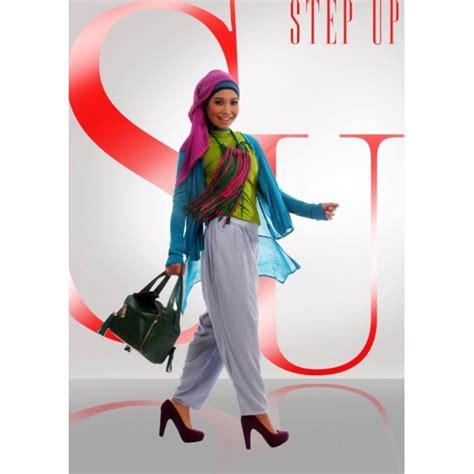 Celana Zetha Denim Lavender Ukuran S M L Xl step up arvina cardi tosca baju muslim gamis modern