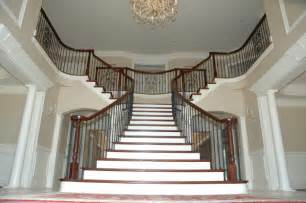 Double radius flare traditional staircase dc metro by choice