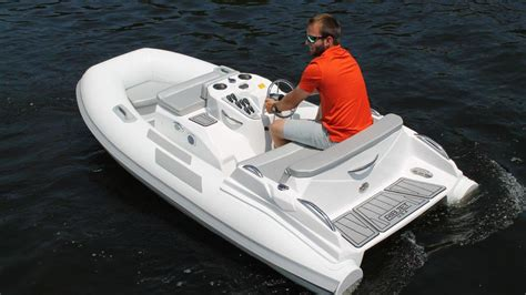 small boat tender ribjet 10 jet yacht tender zooms into view boat