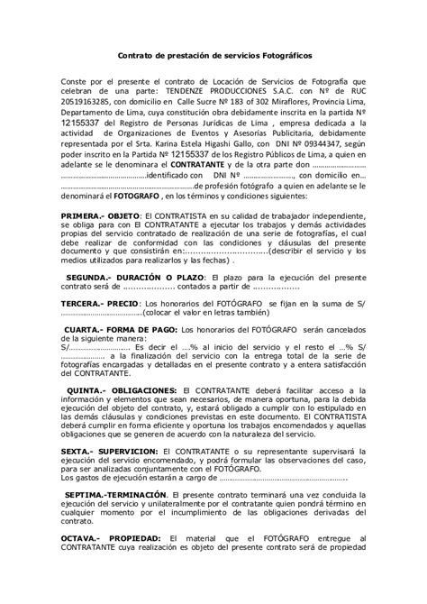 contrato de prestacion de servicios profesionales no contrato de prestacion de servicios fotografo