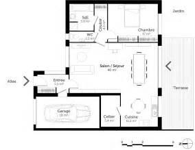 plan de plain pied avec 1 chambre ooreka