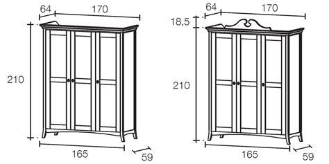 misure cabine armadio armadio misure armadio scorrevole a tre ante in legno