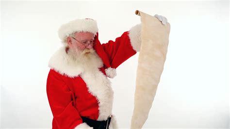 santa checking his list full hd video stock footage video