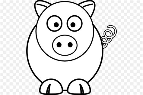 pig clipart black and white pig drawing line clip black and white
