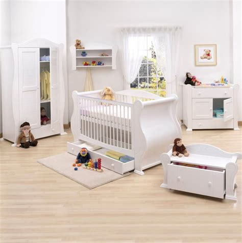 Ikea Baby Bedroom Furniture Nursery Furniture Mothercare Lulworth 3piece Nursery Furniture Set Classic White In The Sale
