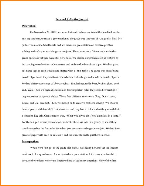 journal essay exle 6 journal exle for students ledger paper