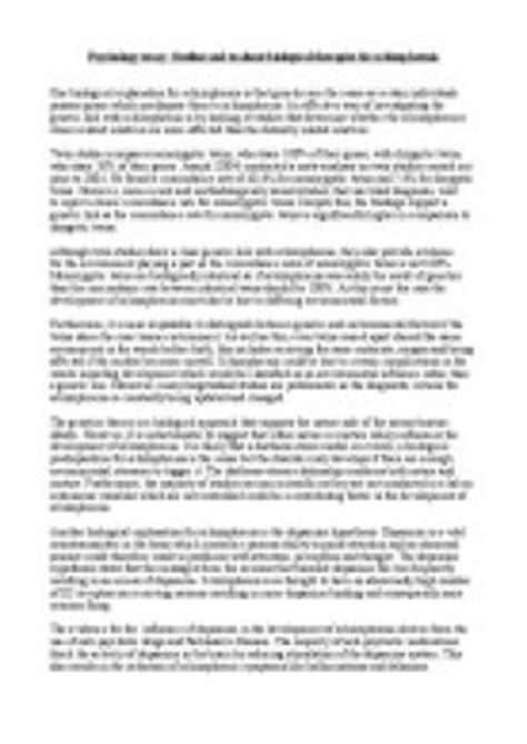 schizophrenia research paper 5 college application topics about schizophrenia research