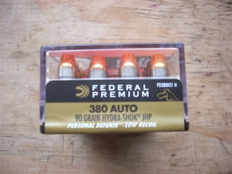 380 auto acp federal hydra shok hollow point ammo for sale