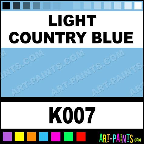 light country blue country kit fabric textile paints k007 light country blue paint light