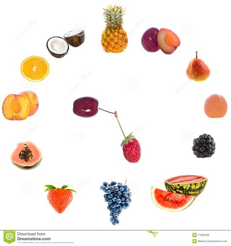 Fruit Clock by Fruit Clock Royalty Free Stock Image Image 11596346