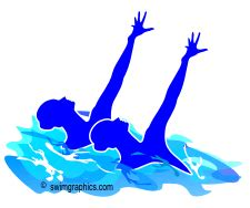 synchro swimming clipart clipartfest synchronized
