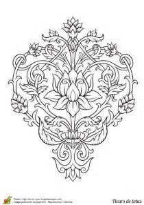 fleur de lotus mandala coloriagetv coloriage fleur de lotus arabesques sur hugolescargot com