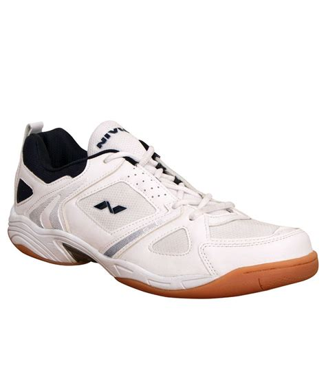 nivia sport shoes nivia verdict white indoor court sports shoes price in