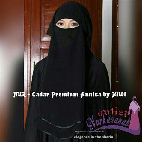 Gamis Cadar Aisyah cadar hitam annisa cadar muslimah niqob muslimah niqob