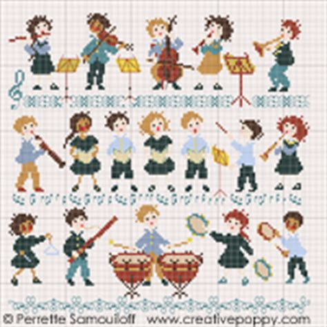poppy and the orchestra perrette samouiloff the little orchestra large pattern