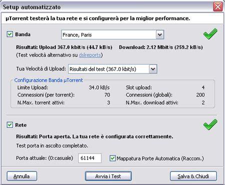 porta utorrent veloce come configurare utorrent per scaricare pi 195 185 veloce