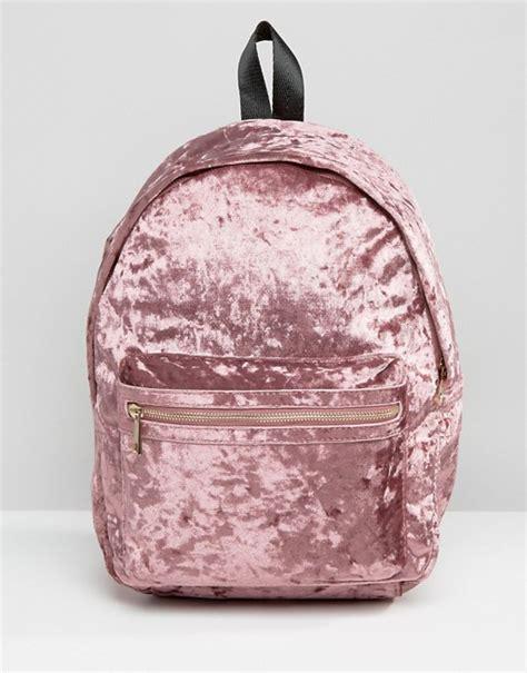 missguided missguided crushed velvet backpack