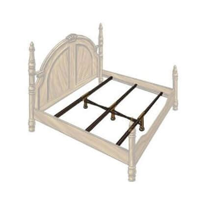 size bed support steel bed frame center support 3 rails 3 adjustable legs