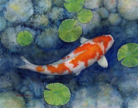 koi pond a kohaku koi watercolor painting on fabriano arti flickr