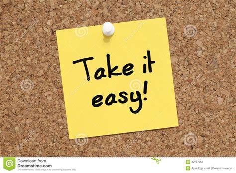 Take It Easy take it easy stock photo image 42707256