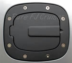 black anodized fuel filler door cover aluminum 07 14 fj
