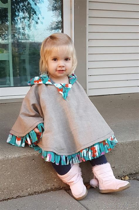 How To Make Roman Shades No Sew - fleece lined hooded poncho for toddlers reality daydream