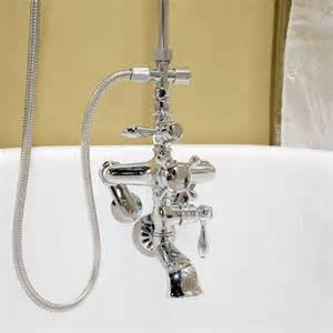 bathtub faucet to shower converter thermostatic shower conversion kit with hand shower bathroom