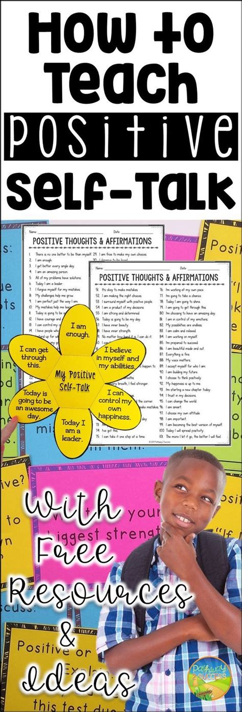 task cards template for affirmations 25 best ideas about positive self talk on
