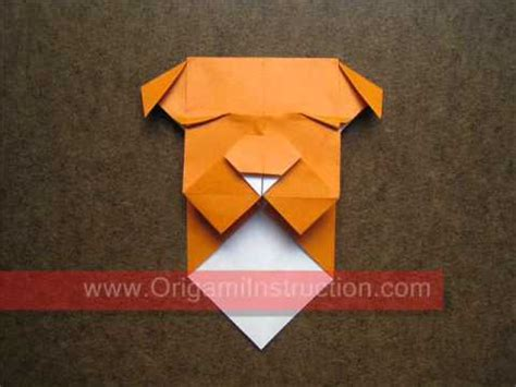 Bulldog Origami - how to make an origami bulldog bookmark vk3