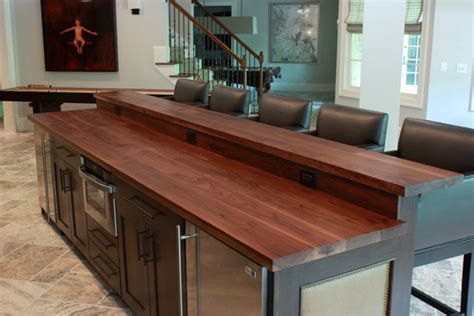 wooden kitchen island top bar top contemporary