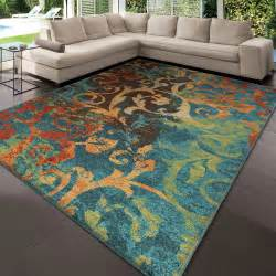 area rugs awesome orange and teal area rug burnt orange
